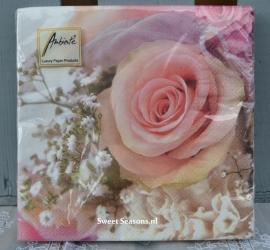 Servet Rose Romance