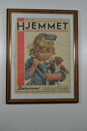 Schilderij Hjemmet: meisje aan telefoon