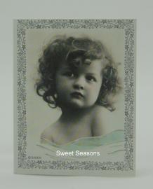 Vintage dubbel cadeaukaartje, nr. 480