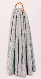 Plaid Cable Light Grey (dubbel)