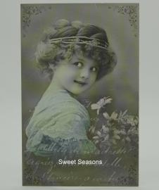 Vintage kaart, enkel, nr. 328