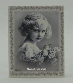 Vintage dubbel cadeaukaartje, nr. 18