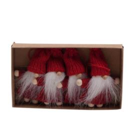 Hangende trollen in doosje, rood, 4 stuks (M7)