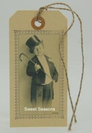 Vintage cadeaulabel, nr. 208