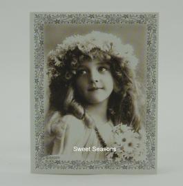 Vintage dubbel cadeaukaartje, nr. 481