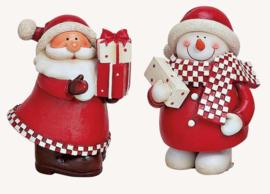 Kerstfiguur, rood, 2 ass. (W25)