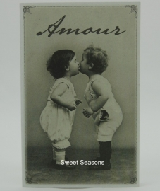 Vintage kaart, dubbel, nr. 454