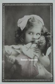 Vintage kaart, enkel, nr. 389