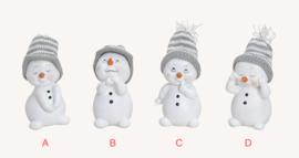 Sneeuwman met muts, grijs, 4 ass. (W9)