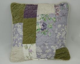 Kussen Violet Checks, 45 x 45 cm