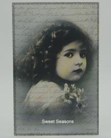 Vintage kaart, enkel, nr. 397