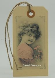 Vintage cadeaulabel, nr. 148