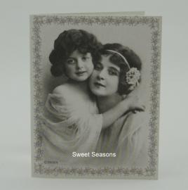 Vintage dubbel cadeaukaartje, nr. 17
