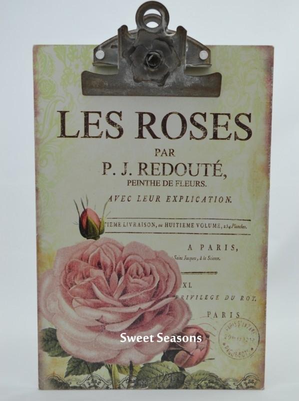 Klembord `Les Roses`