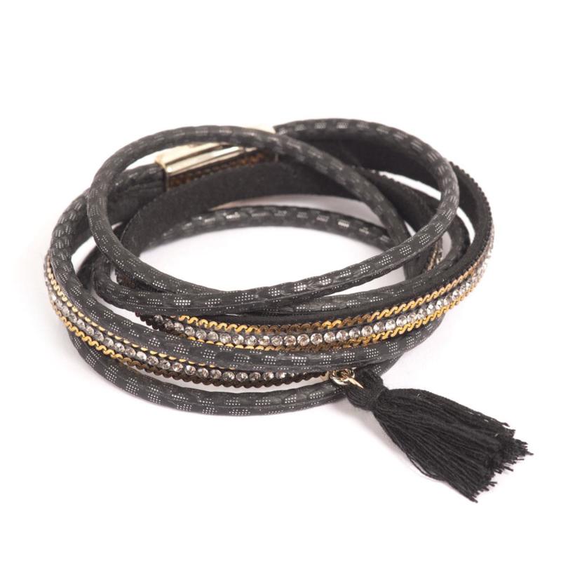 A&C Wrapped Up Armband black