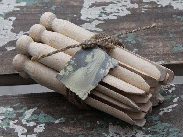 Setje houten wasknijpers