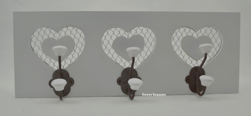 Kapstokje met hartjes