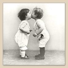 Servet Kissing babies, 33x33 cm, nr. 2063