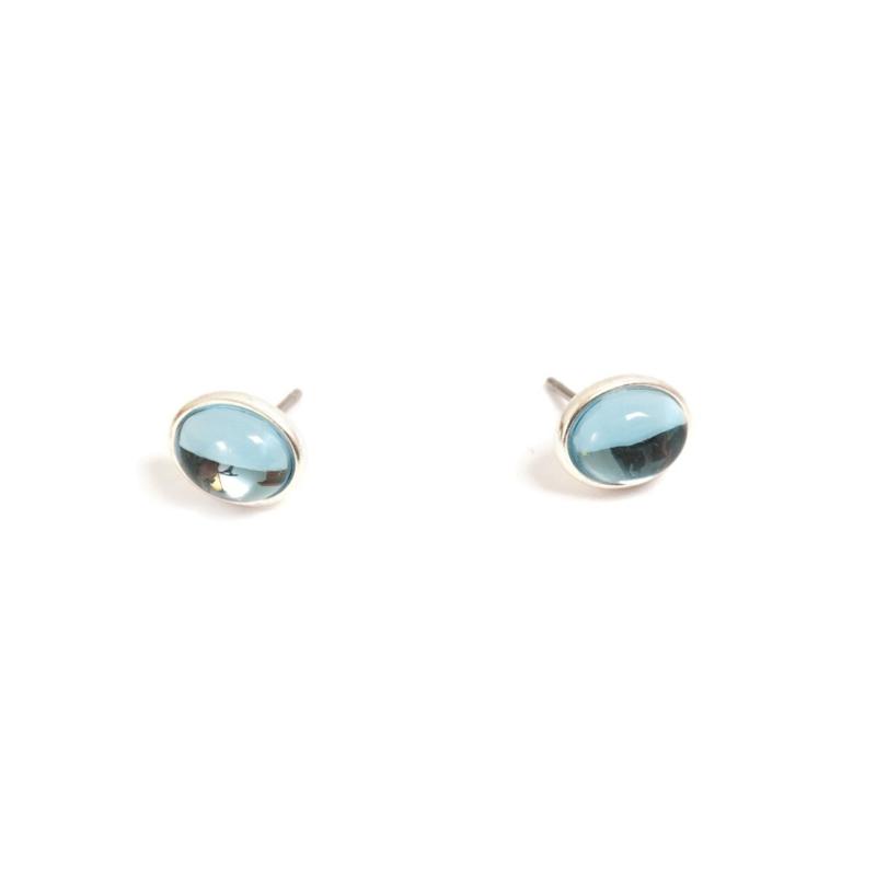 A&C Oorstekers Glass Drop Blue