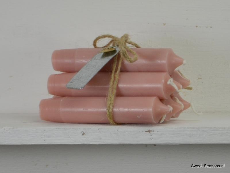 Kaarsje dusty pink, los