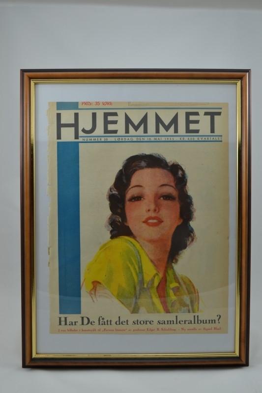Schilderij Hjemmet: jongedame