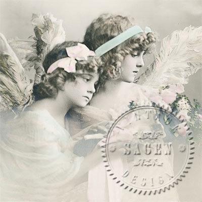 Servet Flower Angels, 33 x 33 cm, nr. 2083