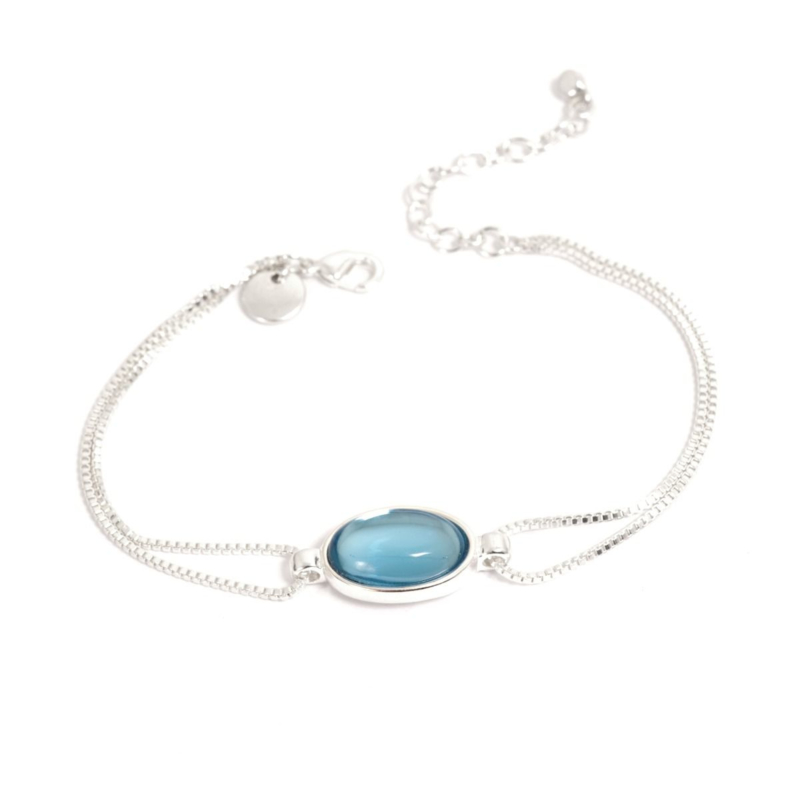 A&C Armband Glass Drop Blue
