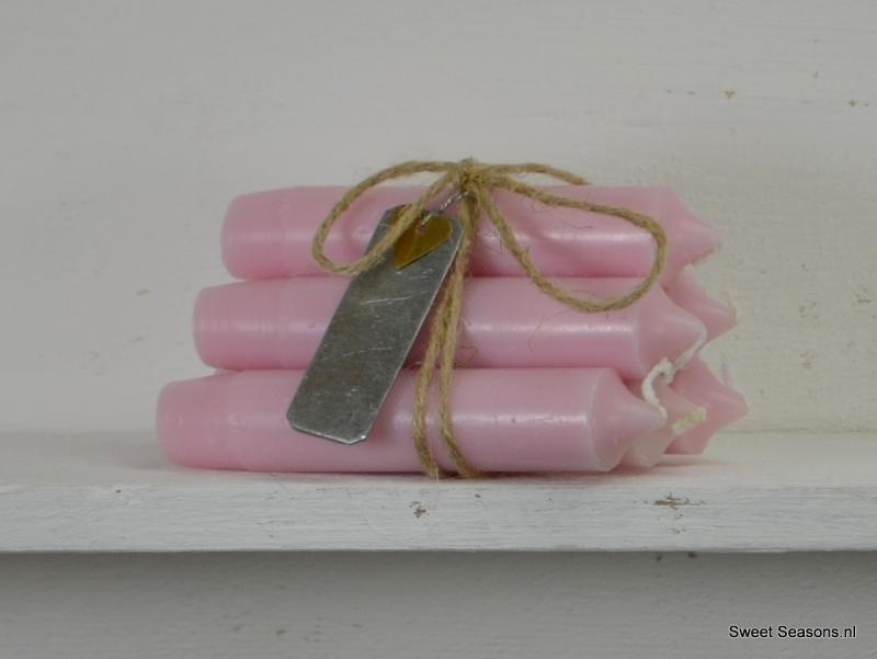 Kaarsje licht roze, los
