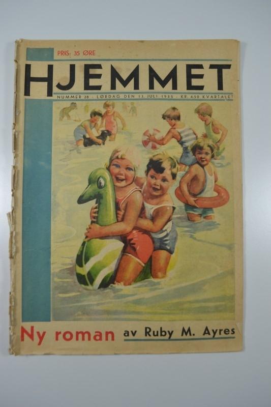 Hjemmet: spelende kinderen in water