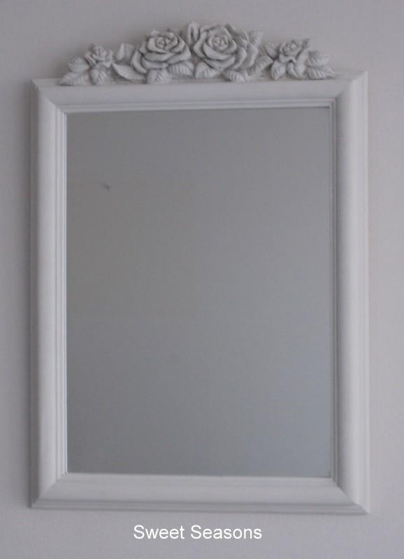 Spiegel, rechthoek met rozen