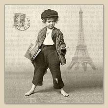 Servet Newspaper boy, 33x33 cm, nr. 80010