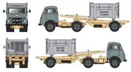 GOLDEN OLDIES DAF T 1300 DA met Container Losser Kleur Dustex