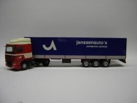 Lion Toys DAF XF 95 SC met Kastenoplegger Janssen Transport