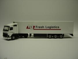 Lion Toys Volvo FH met Koel Oplegger MV Fresh Logistics