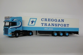 Lion Toys SCANIA R Topline met Koeloplegger Greggan Transport Ireland