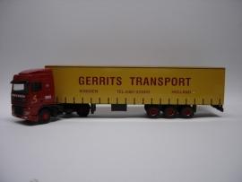 Lion Toys DAF 95 XF SC met Kastenoplegger Gerrits Transport Winssen