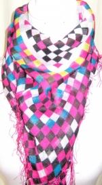 S-0121  Shawl Multicolor Block