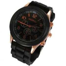 AH-0136 Horloge Black - Rose Gold