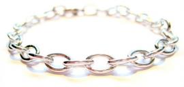 CA-0085 Armband Schakel Zilver