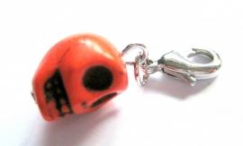 CE-0070  Skull Charm Orange