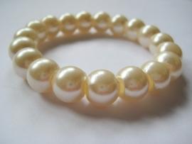CA-0022L Basis Armband Crème Parel