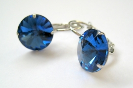 "OR-0232 Oorhangers ""Kristal"" Saffierblauw"