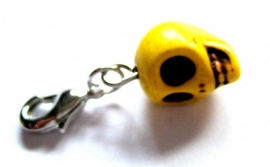 CE-0071  Skull Charm Yellow
