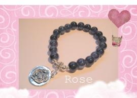 A-0221 Armband Rose Blue