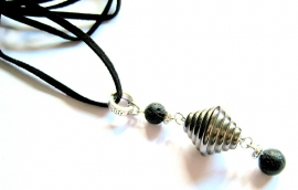 HL-0179 Ketting Blacksilver Lava