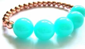 A-0386 Armband Mint Rosé