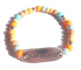 A-0551 Armbandje Live Life