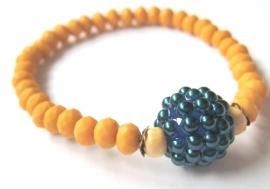 A-0453 Armbandje Honey Blue