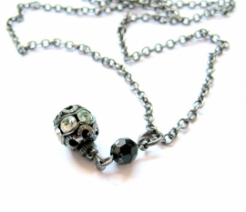 HK-0119 Ketting Blacksilver