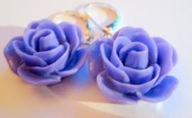 O-0299 Oorbellen Rose Purple